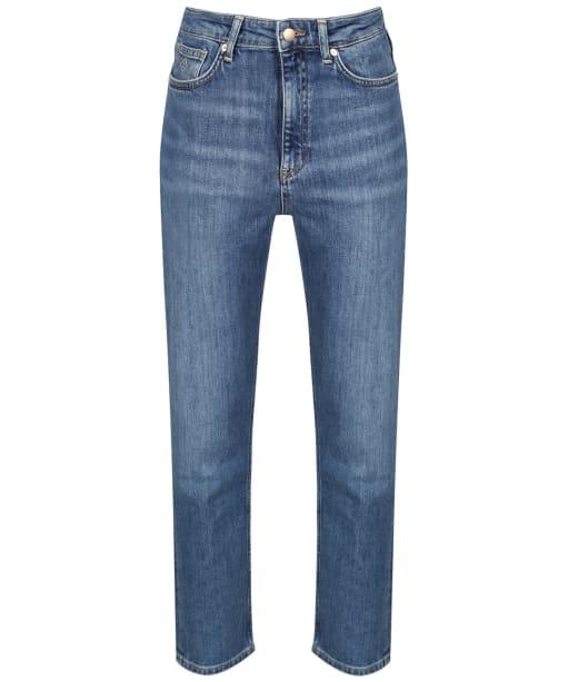 Women's GANT HW Slim Cropped Classic Jeans - Semi Light Indigo Worn In