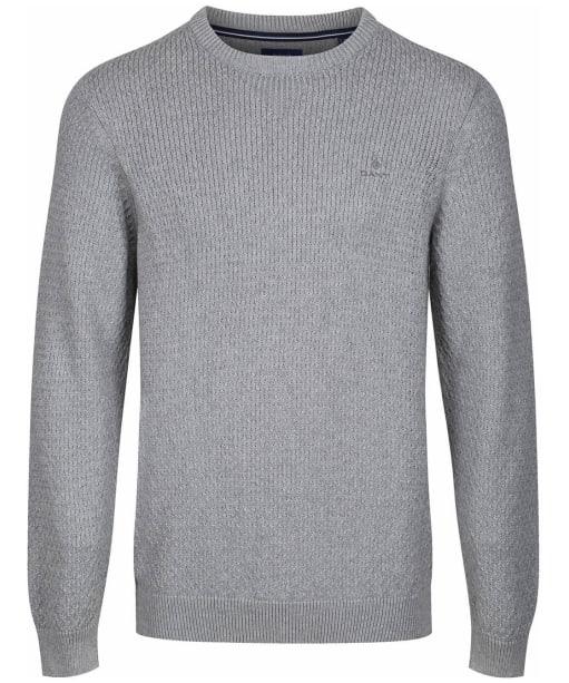 Men's GANT Honeycomb Crew Sweater - Grey Melange