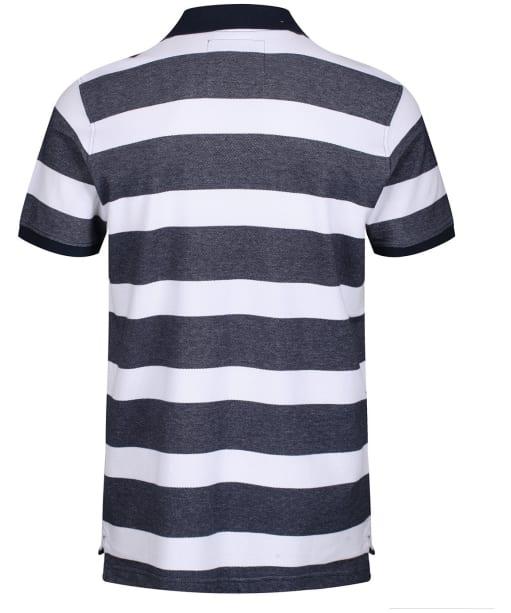 Men's Crew Clothing Oxford Polo Shirt - Navy / White