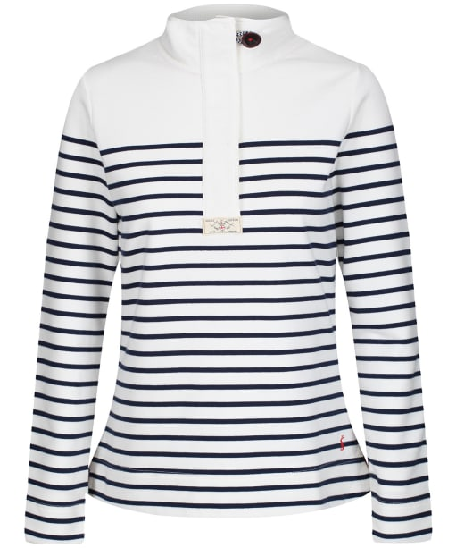 Women's Joules Saunton Classic Sweatshirt - Cream / Navy Stripe