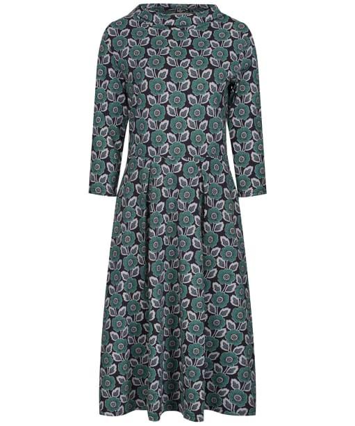 Women's Seasalt Carn Morval Dress - Woodcut Floral Ruscus Leaf