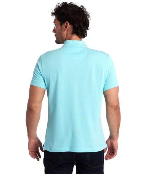 Men's Barbour Tartan Pique Polo Shirt - Aquamarine