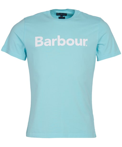 Men's Barbour Logo Tee - Aquamarine