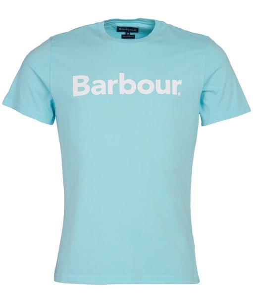 Men's Barbour Logo Tee - Aquamarine