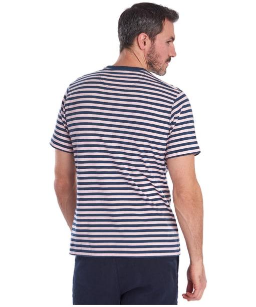 Men's Barbour Delamere Stripe Tee - CHALK PINK