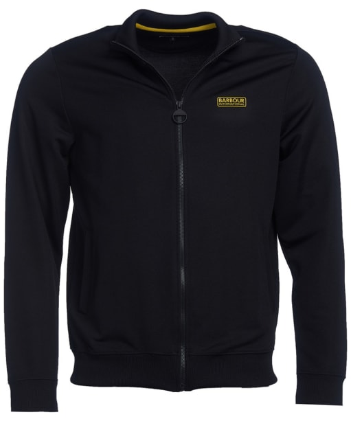 Men's Barbour International Zip Thru Track Top - Black