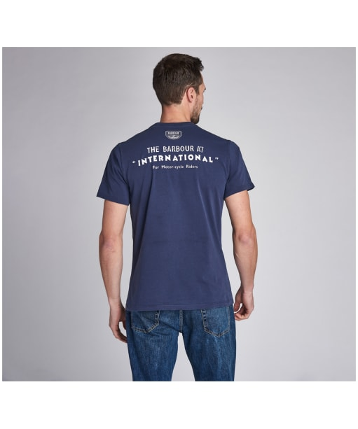 Men's Barbour International A7 Edition Tee - Washed French Navy