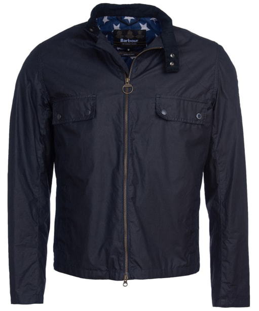 Men's Barbour International Steve McQueen Wilkin Waxed Jacket - Royal Navy