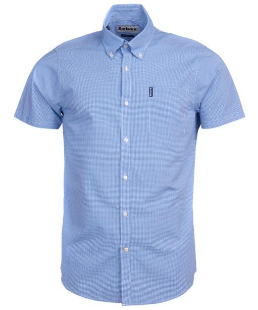 Men's Barbour Gingham 17 S/S Tailored Shirt - Aqua