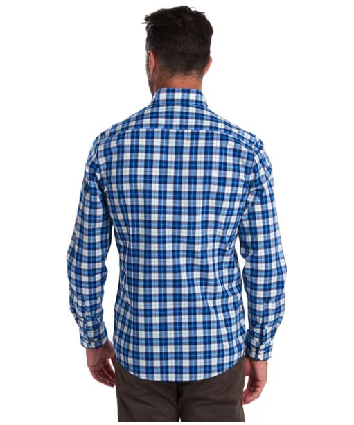 Men's Barbour Highland Check 28 Tailored Shirt - Blue Check