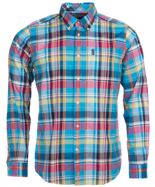 Men's Barbour Madras 4 Tailored Shirt - Aqua Check