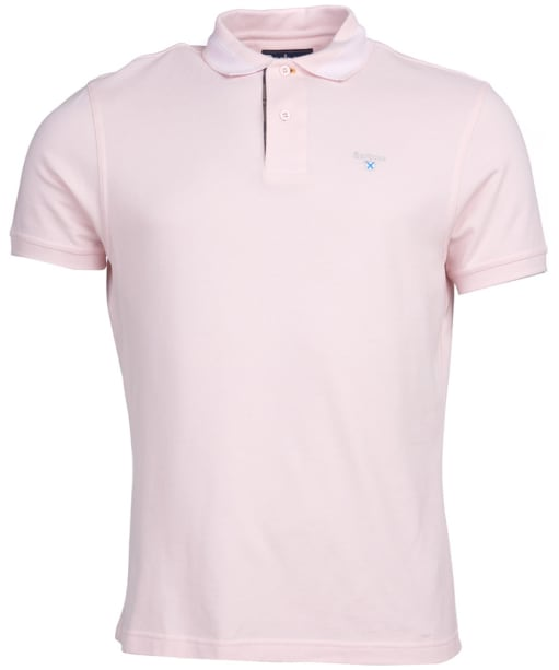 Men's Barbour Keer Tipped Polo Shirt - Chalk Pink