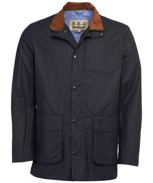 Men's Barbour Adderton Waxed Jacket - Navy