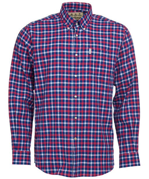 Men's Barbour Linen Mix 3 Regular Shirt - Navy Check