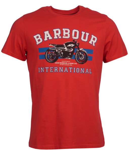 Men's Barbour International Bracket Tee - Lava