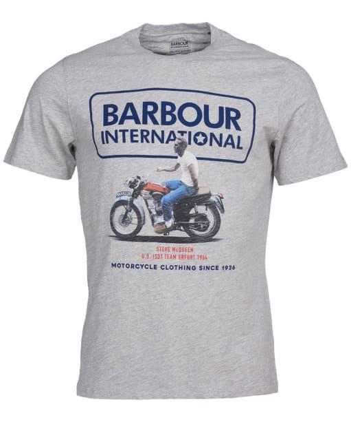 Men's Barbour International Steve McQueen Relaxed Tee - Grey Marl
