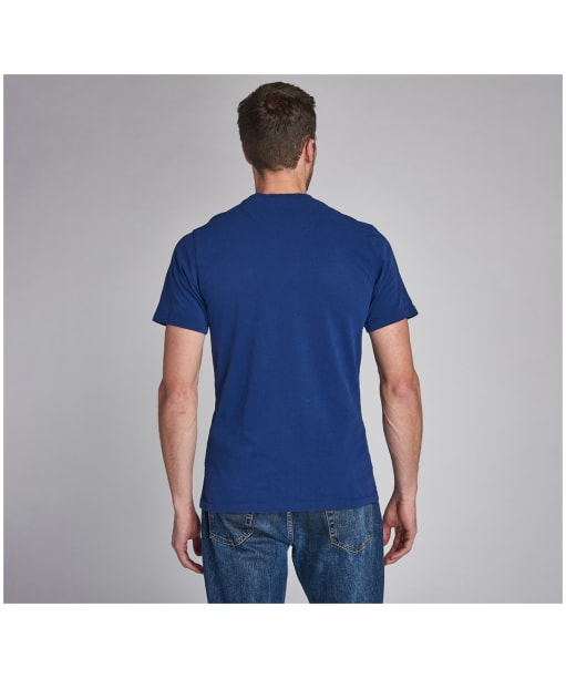 Men's Barbour International Steve McQueen Life Tee - Inky Blue