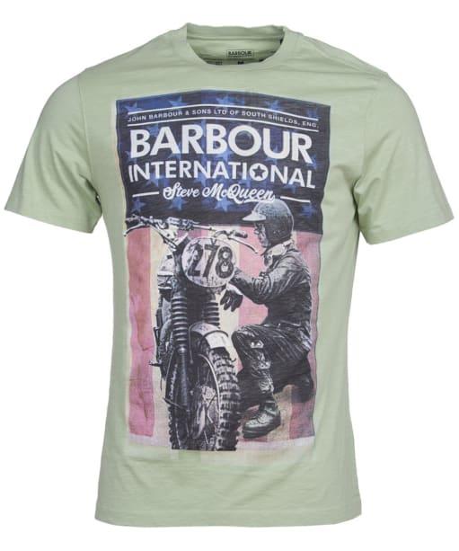 Men's Barbour International Steve McQueen Fixer Tee - Vintage Green