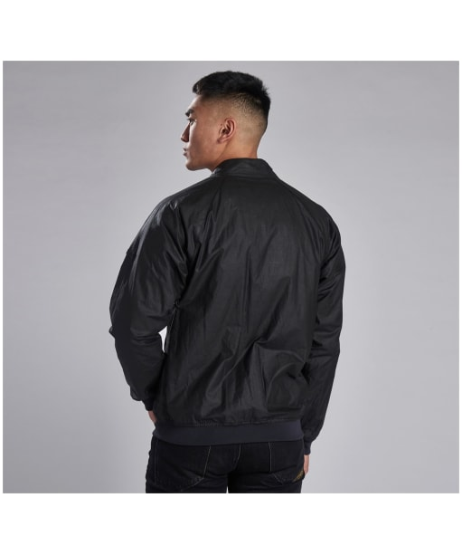 Men's Barbour International Glendale Waxed Jacket - Black