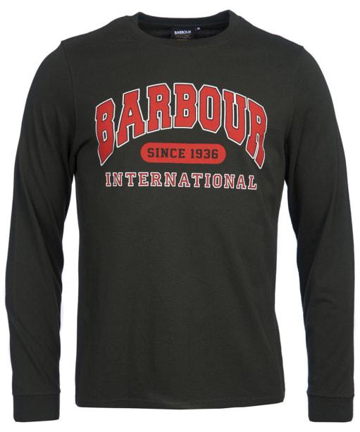 Men's Barbour International Collegiate L/S Tee - Jungle Green