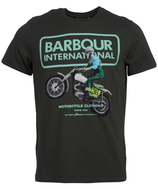 Men's Barbour International Archieve Comp Tee - Jungle Green