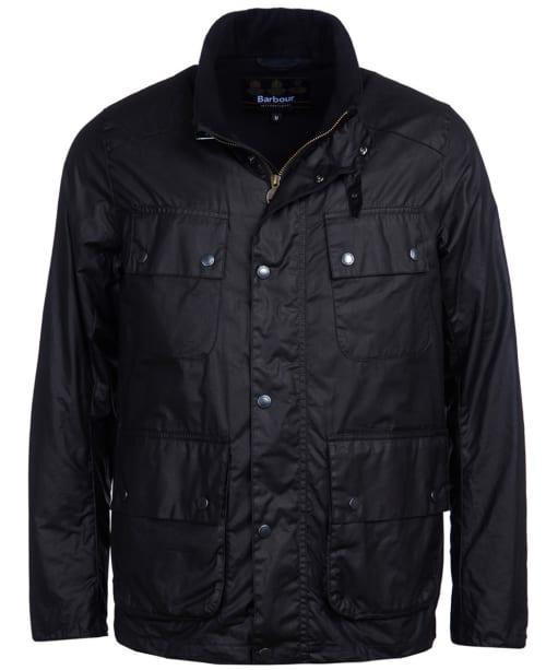 Men's Barbour International Alford Waxed Jacket - Black
