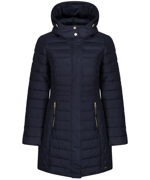 Women's Joules Thirlmere Longline Padded Coat - Marine Navy