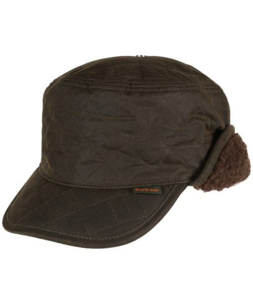 Men's Barbour Stanhope Trapper Waxed Hat - Olive