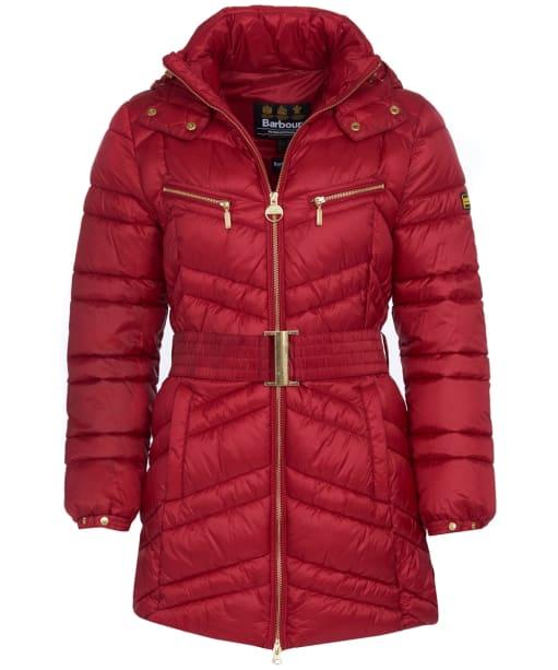 Women's Barbour International Cross Quilt Jacket - Rhubarb