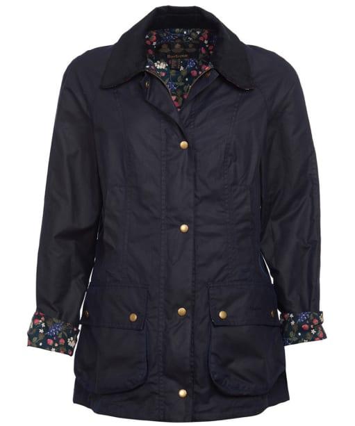 Women's Barbour Monteviot Wax Jacket - Navy / Blueberry