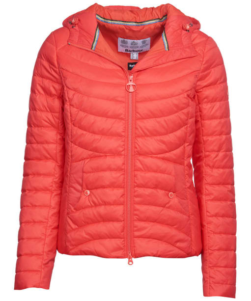 Women's Barbour Ashore Quilted Jacket - Coral