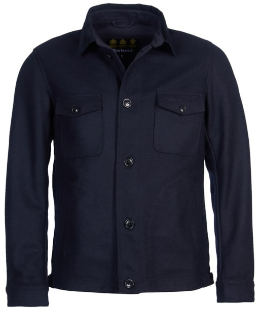 Men's Barbour Saxilby Wool Jacket - Navy