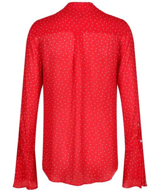 Women's GANT French Dot Chiffon Bow Blouse - Bright Red