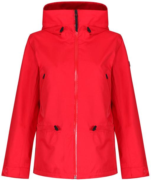 Women's Aigle Retrobloom Waterproof Jacket - Red