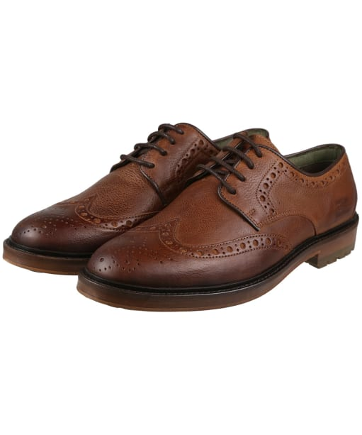 Men's Barbour Ouse Brogue Shoes - Tan