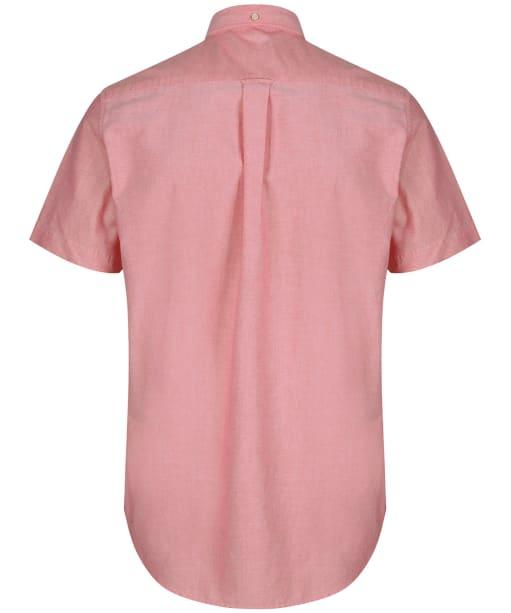Men's GANT Regular Short Sleeved Oxford Shirt - Bright Red