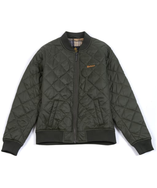 Boy's Barbour Gabble Quilted Jacket, 10-15yrs - Olive