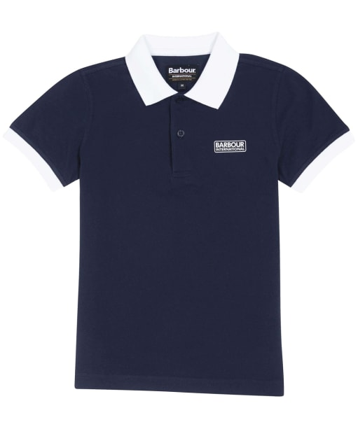 Boys Contrast Polo - Navy