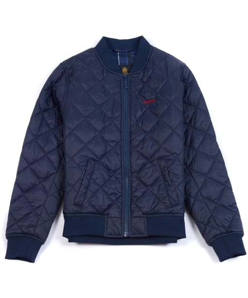 Boy's Barbour Gabble Quilted Jacket, 10-15yrs - Navy
