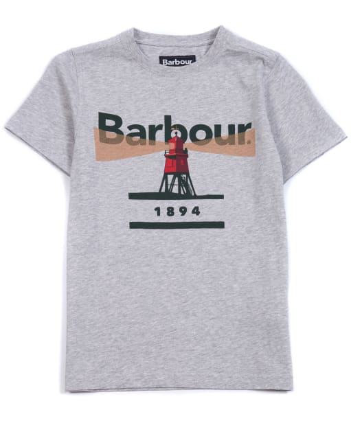 Boy's Barbour Lighthouse Tee, 2-9yrs - Grey Marl