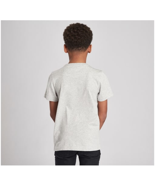 Boy's Barbour International Essential Large Logo Tee, 10-15yrs - Grey Marl