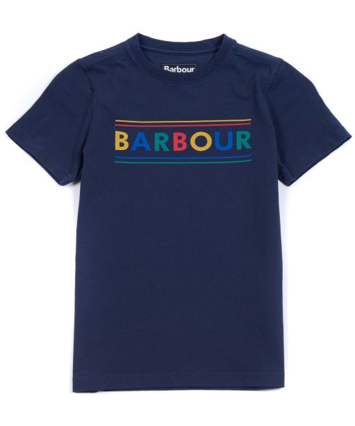 Boy's Barbour Multi Logo Tee, 2-9yrs - Navy