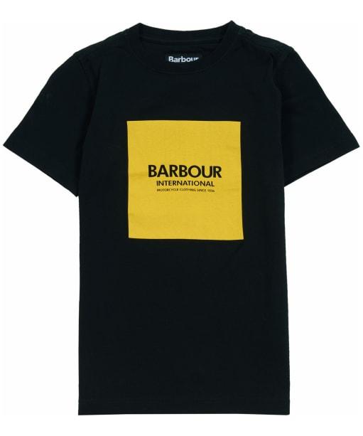 Boy's Barbour International Block Logo Tee, 6-9yrs - Black