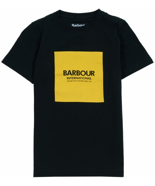 Boy's Barbour International Block Logo Tee, 10-15yrs - Black