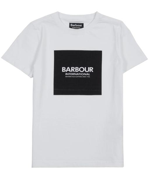 Boy's Barbour International Block Logo Tee, 6-9yrs - White