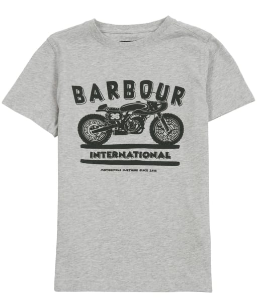 Boy's Barbour International Devise Tee, 2-9yrs - Grey Marl