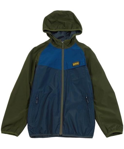 Boy's Barbour International Row Waterproof Jacket, 10-15yrs - Navy