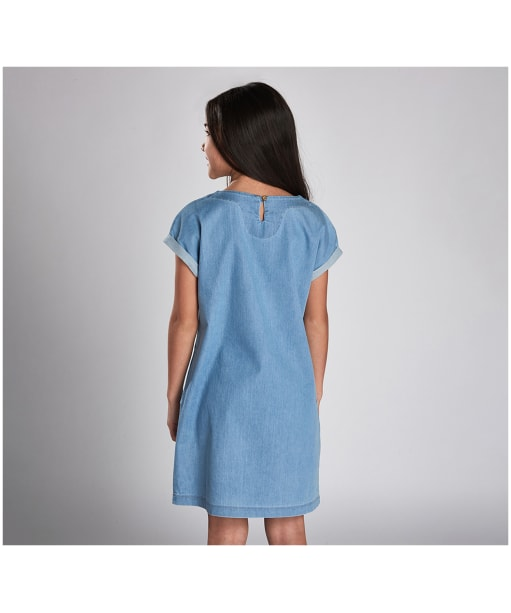 Girl's Barbour International Axel Dress, 10-15yrs - Chambray Blue