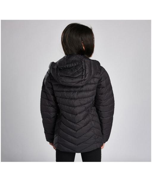 Girl's Barbour International Ringside Quilted Jacket, 10-15yrs - Black