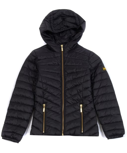 Girl's Barbour International Ringside Quilted Jacket, 2-9yrs - Black